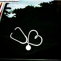 Heart Stethoscope Car Sticker