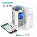 Koogeek FDA Smart Arm Blood Pressure Monitor Wifi Bluetooth Sphygmomanometer Rechargeable Blood Pressure Meter for iOS & Android