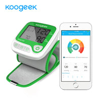 Smart Wrist Blood Pressure Monitor LCD Digital with Measuring Heart Rate Memory Function