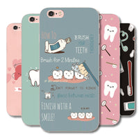 Lovely cartoon Dentist Nurse Doctor Plastic case cover For iphone 6 6S 7 8 Plus 5G 5S SE 5C 4G 4S 7Plus Phone