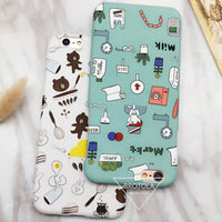 Lovers Cartoon Bear/Nurse Life Phone Case Colorful Funny Animal
