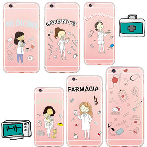 Mag Fond For iPhone 8 X Cute Doctor Nurse Case for iPhone 6 6s 6Plus 5 5s se 7plus
