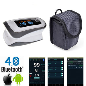 New Finger Pulse Oximeter Bluetooth Oximetro Blood Oxygen Oximetro a finger