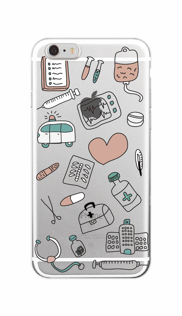 Cute Cartoon Medicine Nurse Doctor Dentist Soft Silicone Tpu Phone Case Cover For Iphone 7 7plus 6 6s 6plus 5 5s Se 8 8plus X Cellphones & Telecommunications Phone Pouch