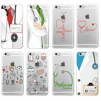 Nurse Health Heart Phone Case Cover Coque Fundas For iPhone 7 7Plus 6 6S 6Plus 5 5S SE 8 8Plus X