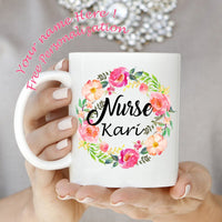 Nurse Mug with flowers