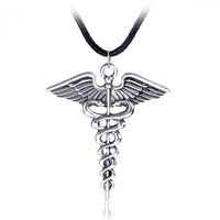 Silver Plated Medical Nurse Necklace