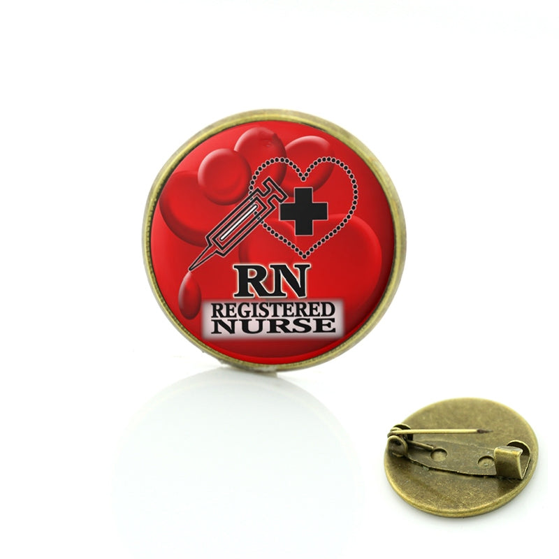 Live Love Heal brooches FNP family nurse practitioner RN Registered Nurse brooch pins doctor charms