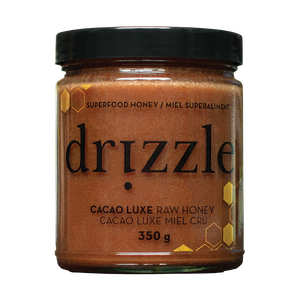 Drizzle Cacao Luxe Raw Honey - Mood & Energy Boost Blend - BioMin Canada