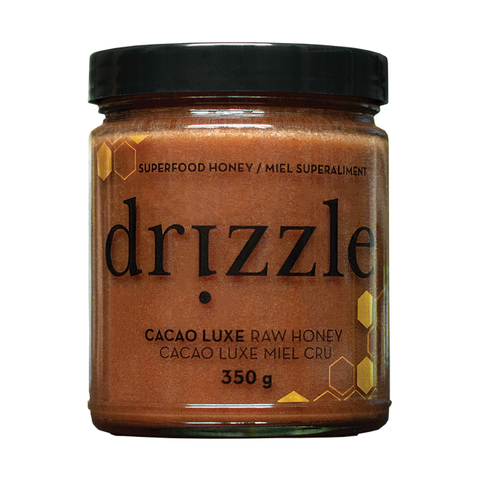 Drizzle Cacao Luxe Raw Honey - Mood & Energy Boost Blend - HealthPulze