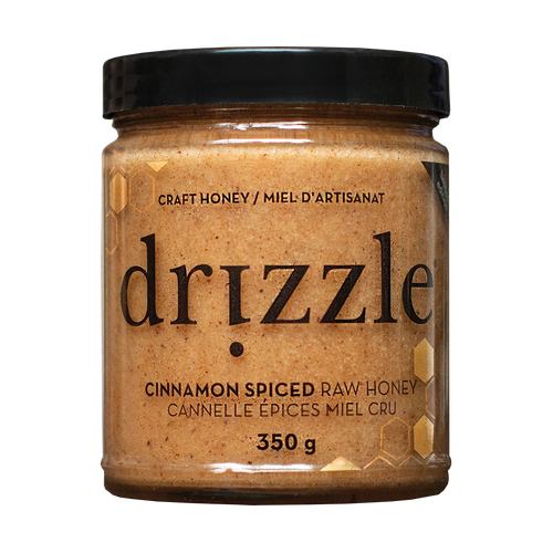 Drizzle Cinnamon Spiced Raw Honey - BioMin Canada