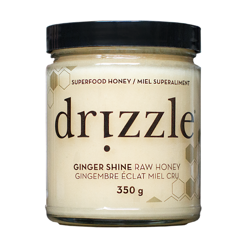 Drizzle Ginger Shine Raw Honey - Immunity Boost Blend - BioMin Canada