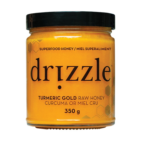 Drizzle Turmeric Gold Raw Honey - Anti-Inflammatory Blend - BioMin Canada