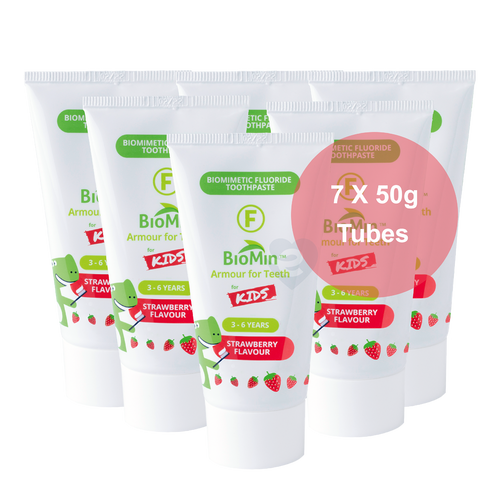 BioMin™ F 7 Pack for Kids Strawberry + Free Tube - HealthPulze