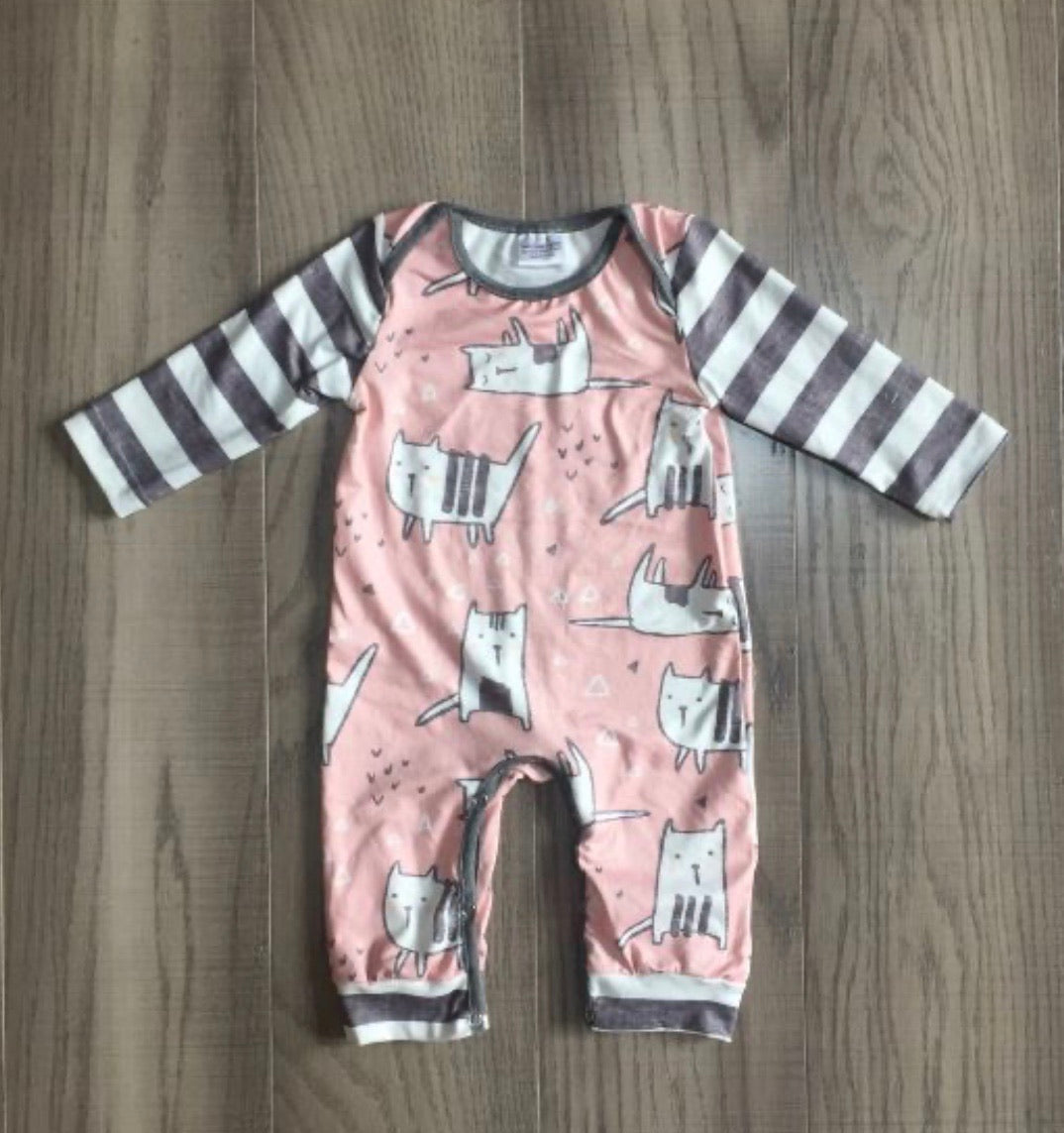 Cute kitties romper