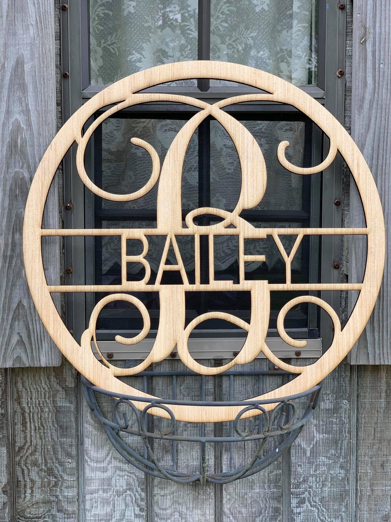 Retail personalized wooden decor