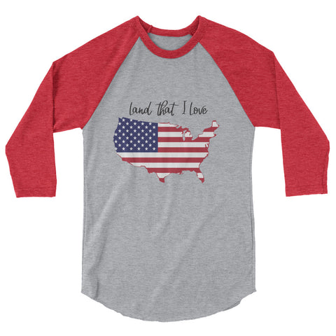 Land that I Love, U.S.A. – 3/4 sleeve raglan shirt