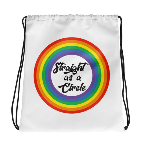 Pride, Straight as a circle Drawstring bag
