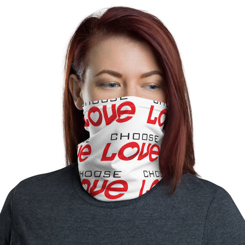 choose love Neck Gaiter
