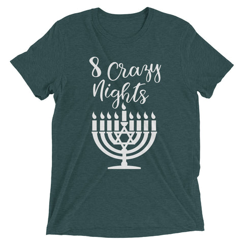 8 crazy nights, Happy Chanuka – Short sleeve t-shirt