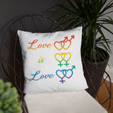 Pride, Love is Love and Love peace, double sided Basic Pillow