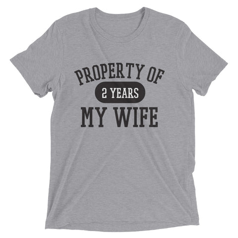PROPERTY OF MY WIFE – Short sleeve t-shirt