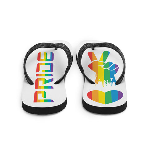 Pride, Peace and Love Flip-Flops
