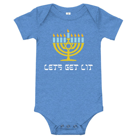 Lets get lit for Chanuka – baby bodysuit