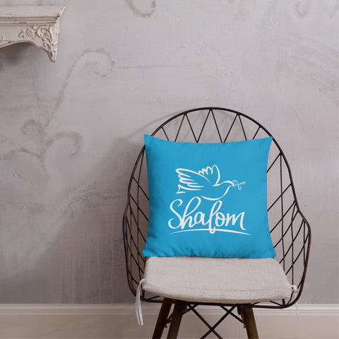 Shalom with dove – Premium Pillow