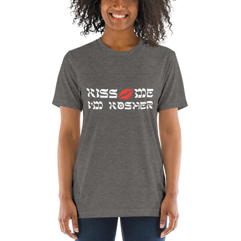 kiss me I'm Kosher, Chanuka – Short sleeve t-shirt