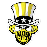 Taxation is theft – Bubble-free stickers
