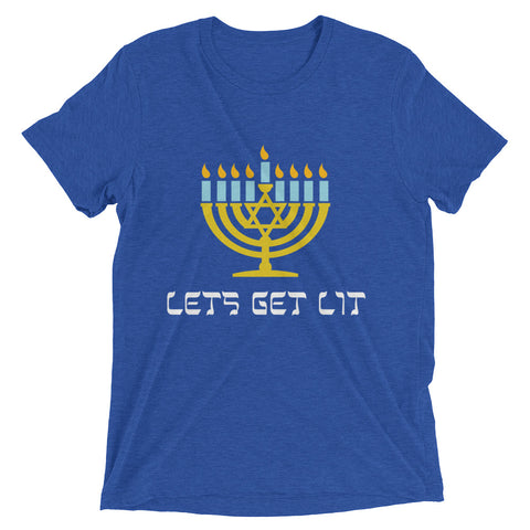 Lets get lit for Chanuka – Short sleeve t-shirt