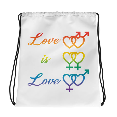 Pride... Love is Love Drawstring bag