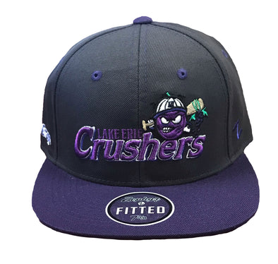 Grey and Purple BP Fitted Hat