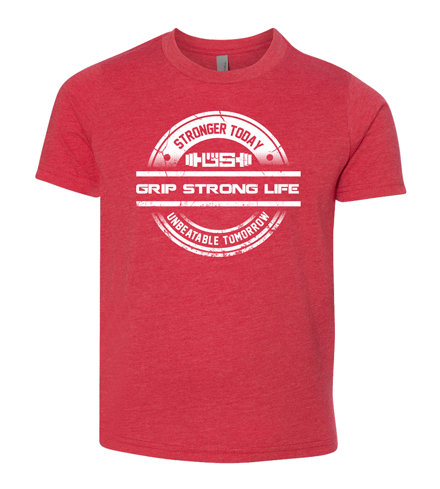 Grip Strong Life Kid's Red T-Shirt