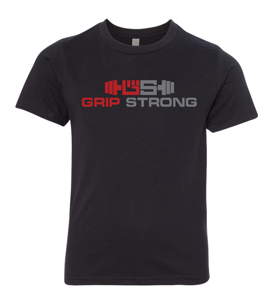 Grip Strong Life Kid's Black T-Shirt