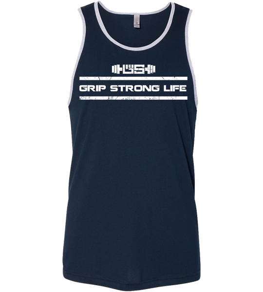 Men's Tank - Midnight Navy/Heather Gray