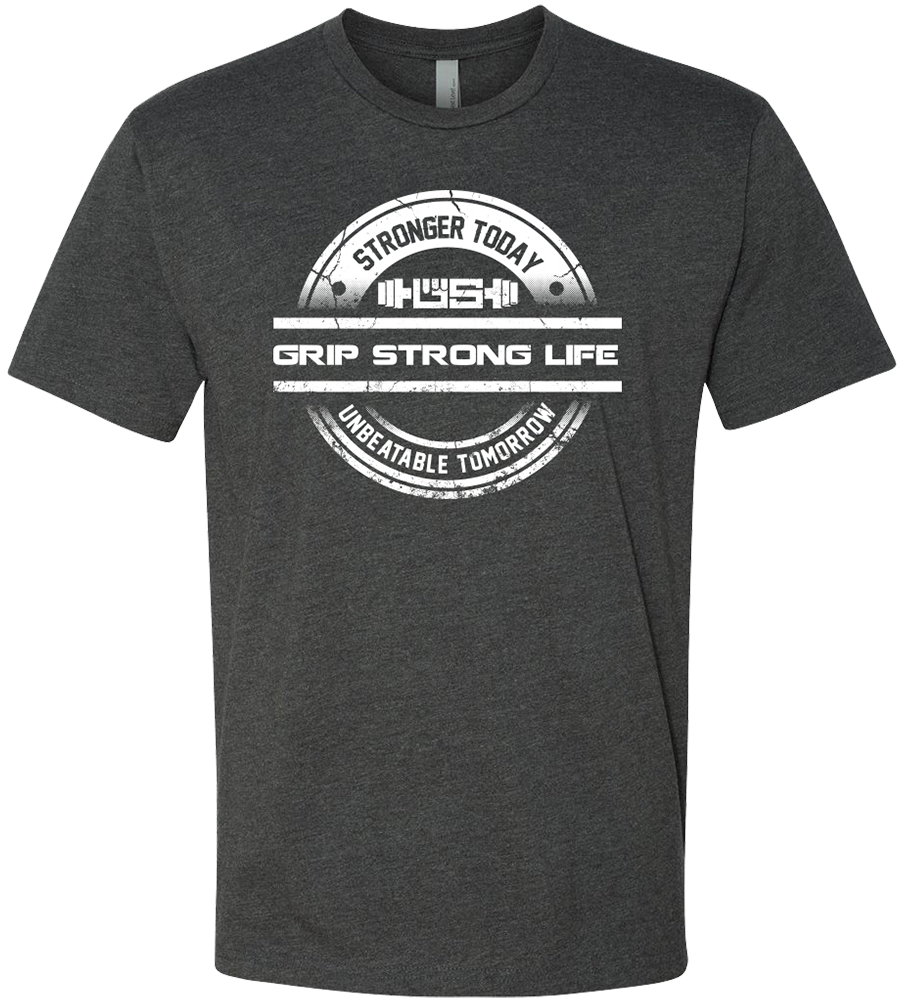 Men's Grip Strong Life Charcoal T-Shirt