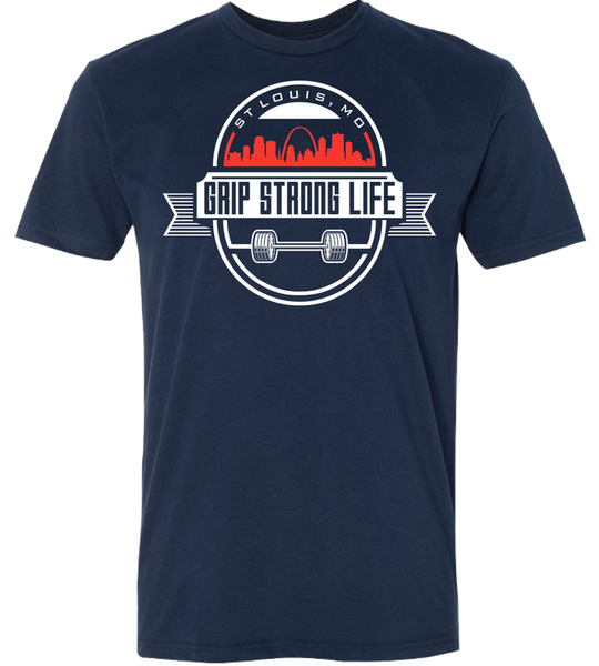 Men's St. Louis Barbell Tee - Midnight Navy