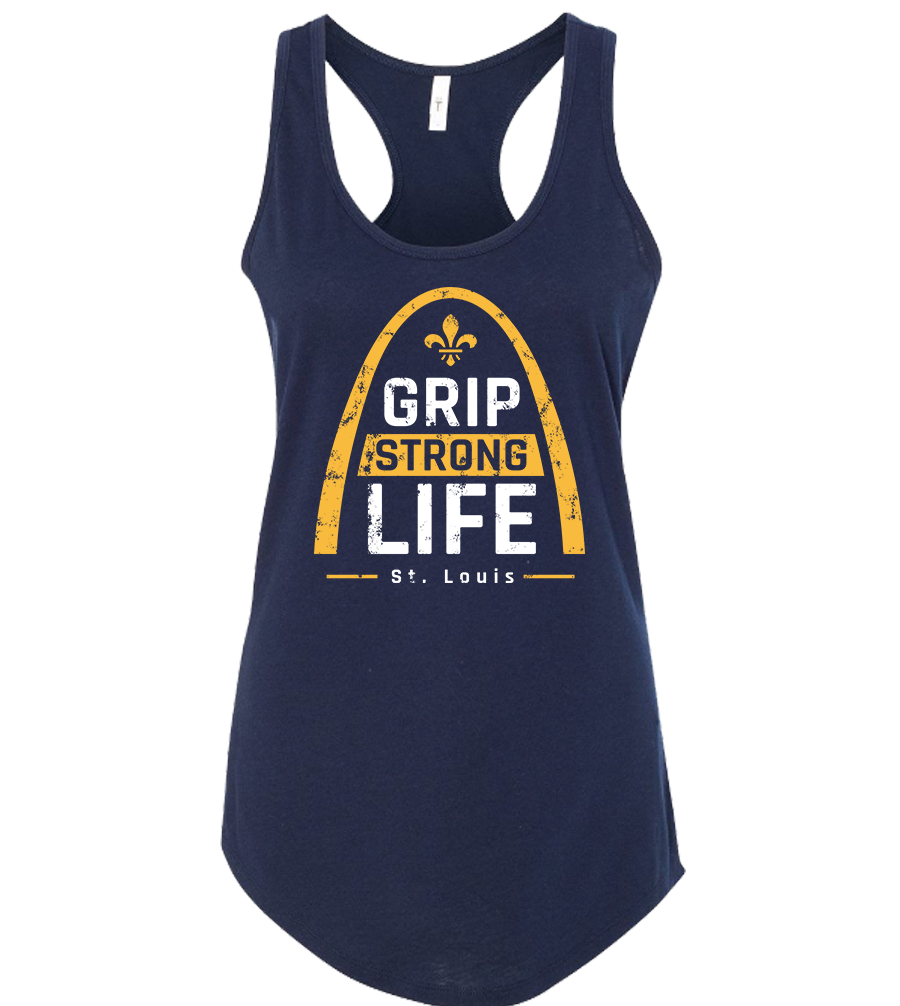 Women's St. Louis Racerback Tank - Midnight Navy