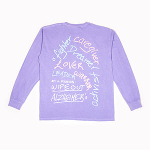 """i am ____"" Signature Long Sleeve Tee Alzheimer's Edition"