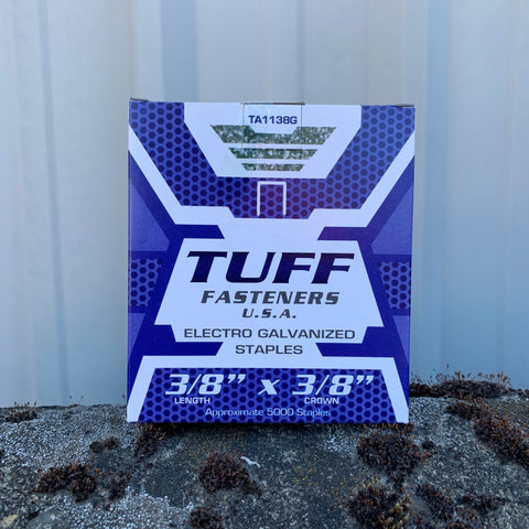 TUFF GALVANIZED STAPLES FOR RAPID 11 HAMMER TACKER 3/8""
