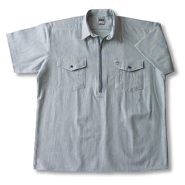 Hickory Shirt Short Sleeve Zip Big Bill