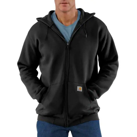 Carhartt K122 Midweight Hooded Zip-Front Sweatshirt (Black)