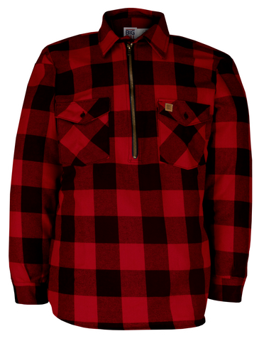 Big Bill 1/4 Zip Flannel Shirt (Tall Sizes)