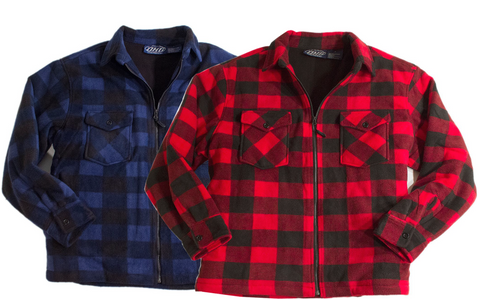 DUTCH HARBOR BUFFALO PLAID FLANNEL JACKET ZIP FRONT