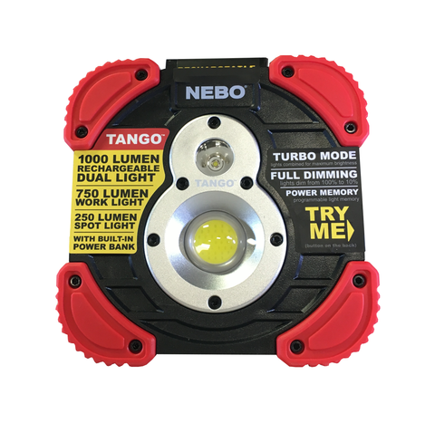 TANGO 1000 LUMEN RECHARGEABLE DUAL WORK LIGHT