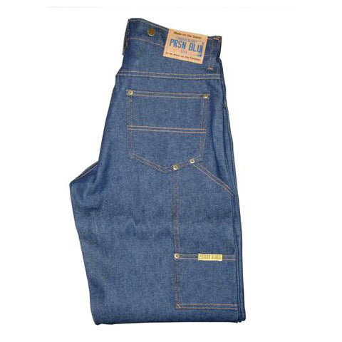 Prison Blues Rigid Work Jeans with Suspender Button