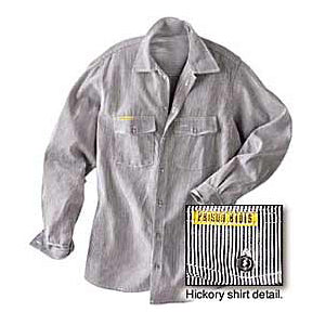 Prison Blues Long Sleeve Button-front Hickory Work Shirts