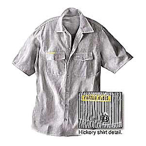 Prison Blues Short Sleeve Button-front Hickory Work Shirt